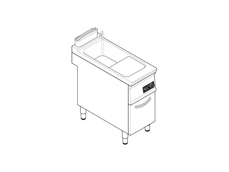 Cuiseur a pates professionnel électrique 1 cuve de 40 l - tecnoinox - 900