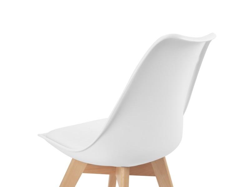 blanches à 4 sara salle de pour Lot design chaises manger dxBCroe