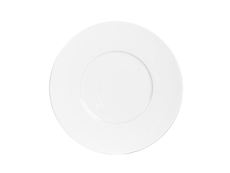 Assiette à dessert zen blanc 27 cm (lot de 6)