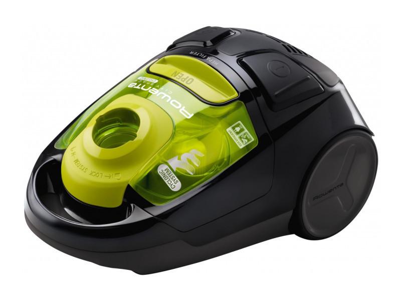 Rowenta ro2522wa aspirateur réservoir cylindrique 1.2l 1600w noir, vert aspirateur