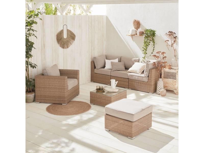 Salon de jardin premium en résine tressée arrondie – vinci ...