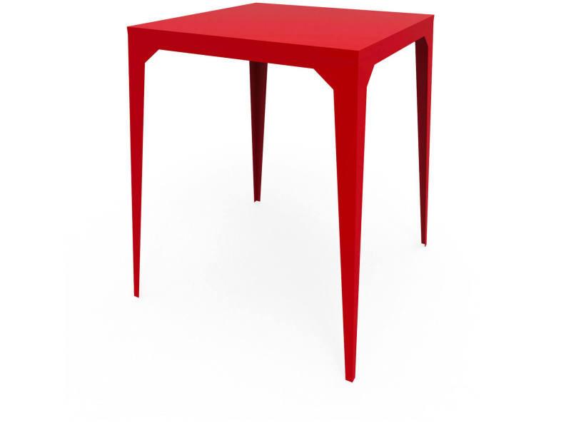 Table haute bar cuatro rouge coquelicot TaH_CUA_Car80_h105_Coq