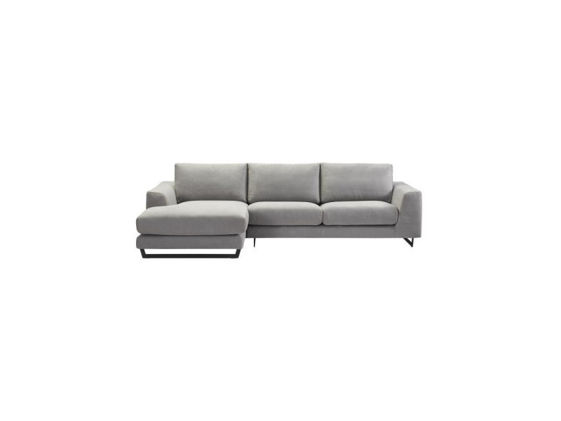 Palmas canapé d'angle gauche - tissu gris chiné - l 296 x p 163 x h 82 cm PALMASANGGR