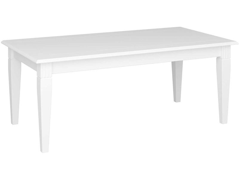 Table en mdf coloris extra blanc - 51 x 130 x 70 cm -pegane-