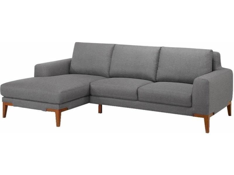 Canapé d'angle gauche sun season tissu C116-SEASONGREY-AG
