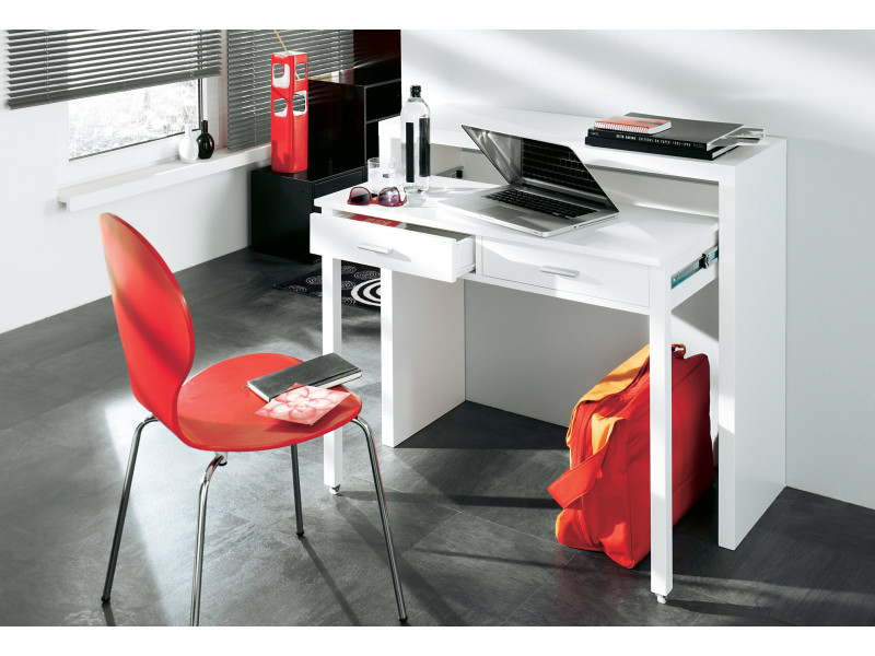 Table extensible coiffeuse bureau roma béton cm