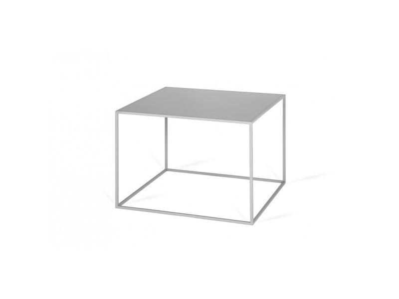 Table basse industrielle carrée en métal flore / coloris : gris