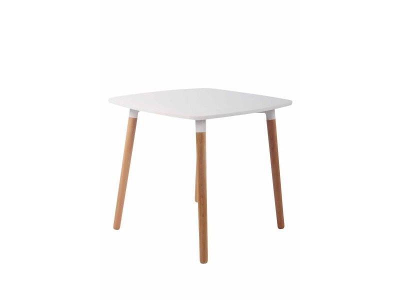 Table De Cuisine Table D Appoint En Bois Couleur Blanc