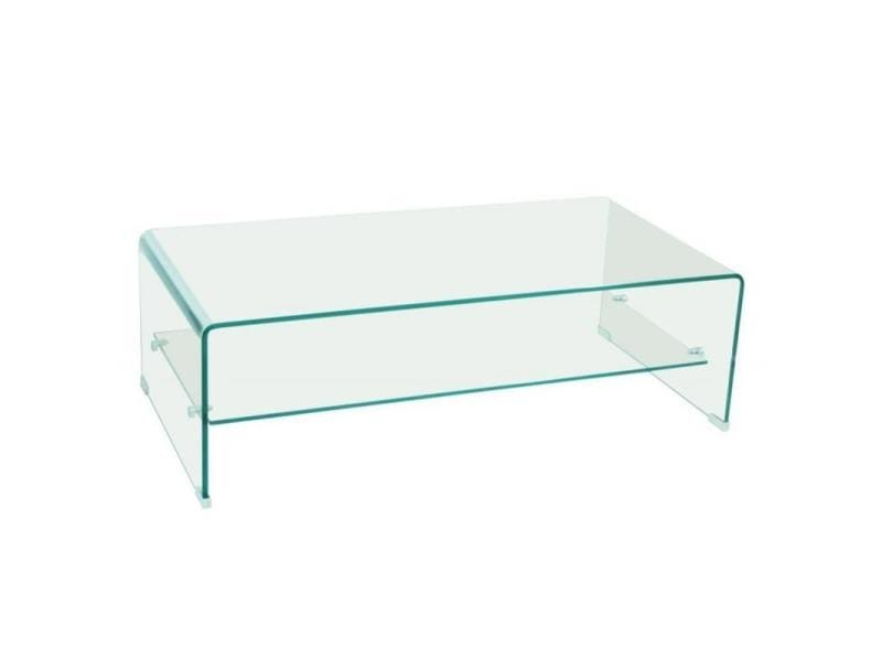 Table basse design side en verre tremp 12mm transparent - Table de salon conforama en verre ...