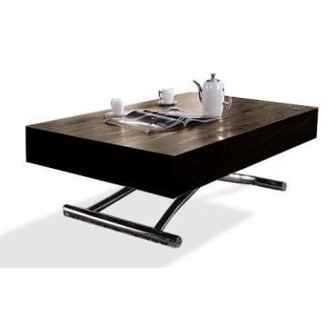 Table basse relevable cube weng extensible 10 couverts - Table basse relevable extensible conforama ...