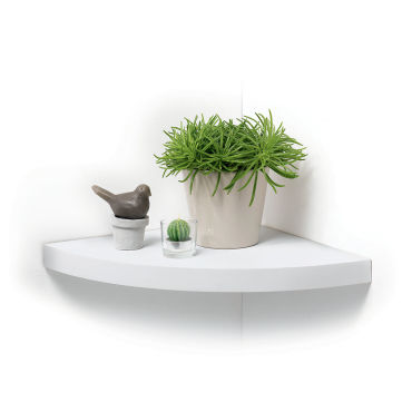 tag re flottante d 39 angle blanche vente de modul 39 home conforama. Black Bedroom Furniture Sets. Home Design Ideas