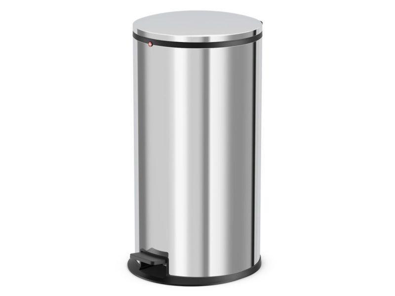 Hailo poubelle à pédale pure taille xl 44 l acier inoxydable 0545-010