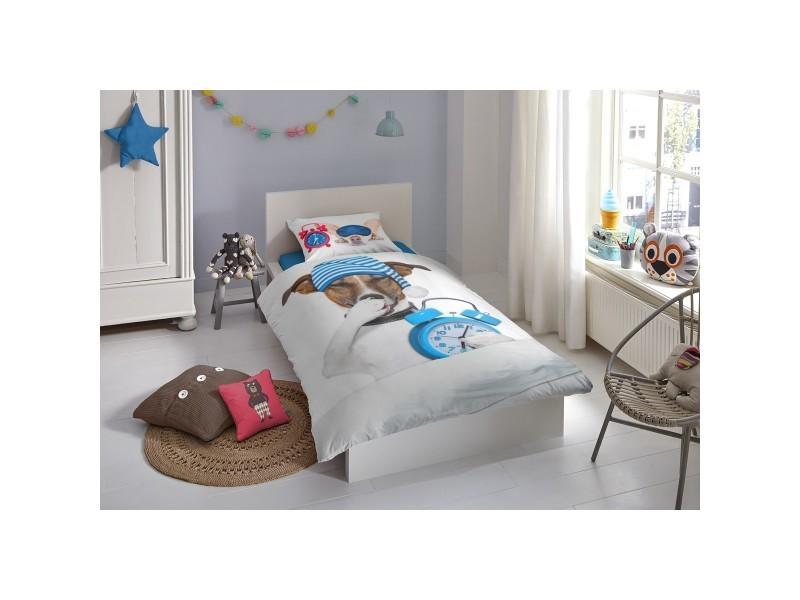 parure de lit coton sleepy dogs 140x200 cm vente de parure de lit 1 personne conforama. Black Bedroom Furniture Sets. Home Design Ideas