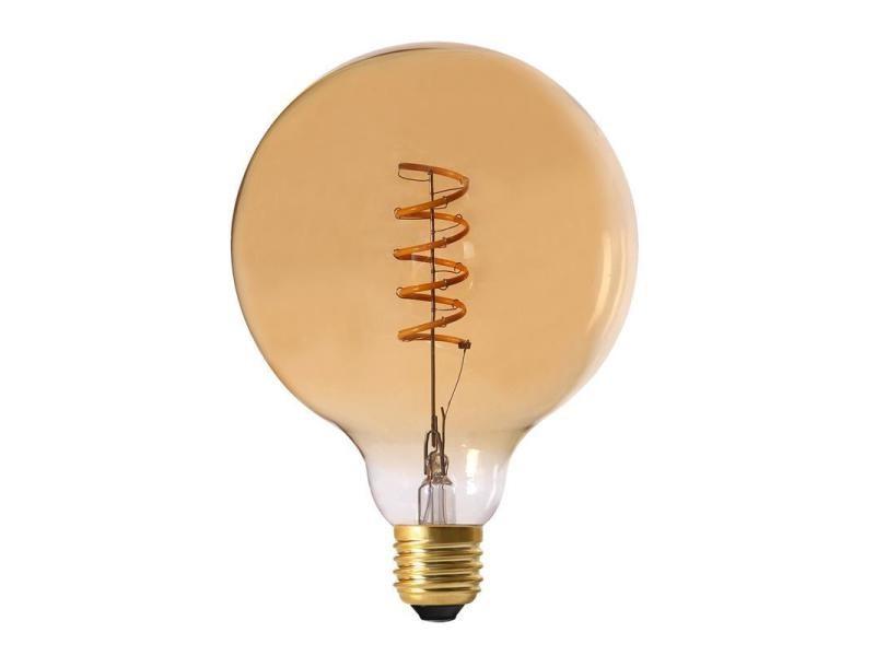 Ampoule ronde led spirale ambré 17 cm unitaire