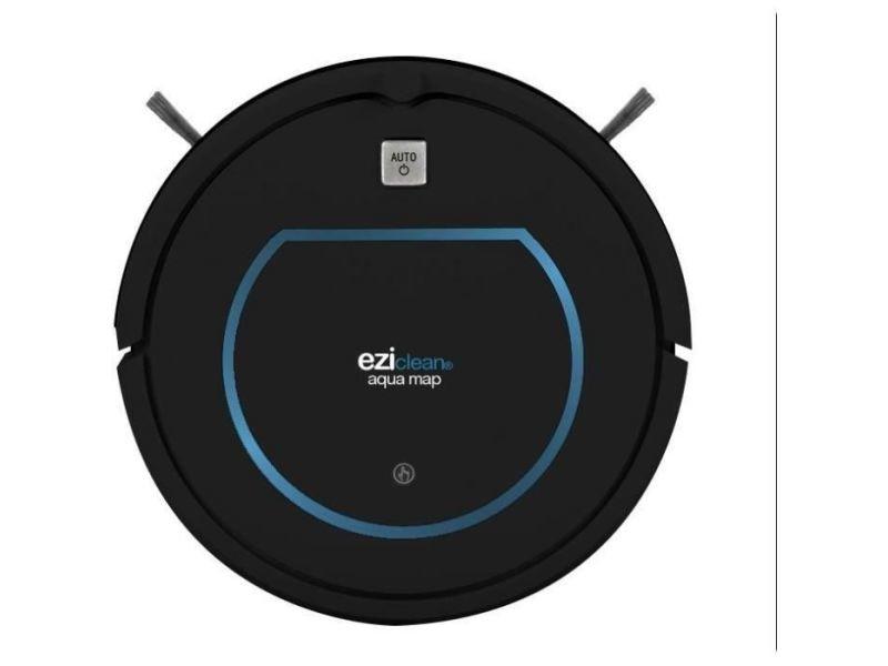 Eziclean robot aspirateur laveur aqua map -aspire et passe la serpillere en un seul passage - 120m2 - 60 db - 330 ml EZI3760190144997