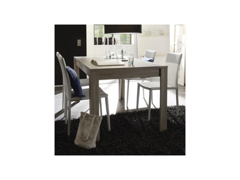 Table de repas chêne gris 160 cm - ardesia - l 160 x l 90 x h 79 - neuf