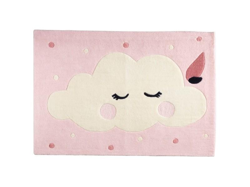 Tapis de chambre enfant nuage de taille 130x90cm miss fleur ...