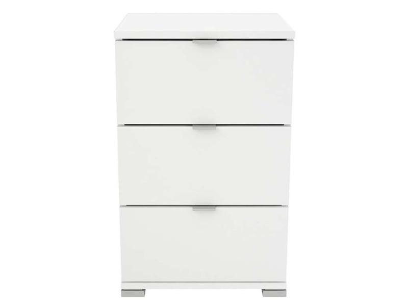 Chevet / table de nuit coloris blanc mat - 39,8 x 63,2 x 41,9 cm -pegane- PEGANE