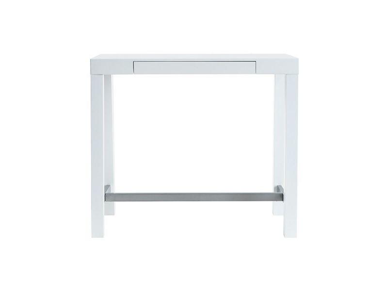 Table de bar design blanc laqué mat alex