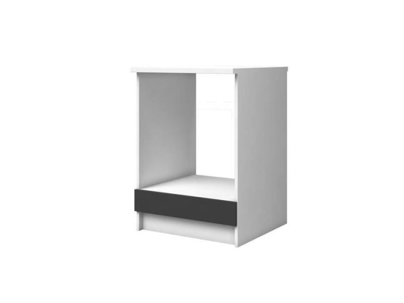 Extra meuble bas four l 60cm - gris mat
