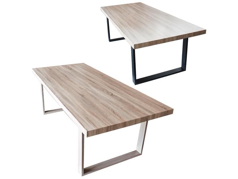 Table de salle manger salon plateau mdf bois 160 x 90 x - Conforama table de salle a manger ...