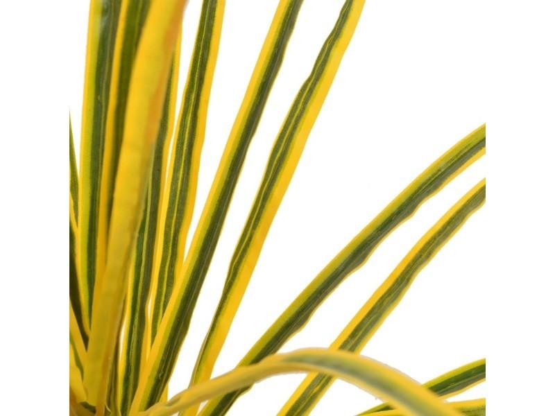 Icaverne - fleurs et plantes artificielles famille plante artificielle avec pot dracaena jaune 125 cm