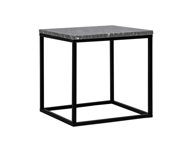 Table d'appoint carrée marbre dagmar noire