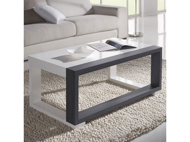 Table basse relevable blanche et grise moderne correze 3 Table grise conforama