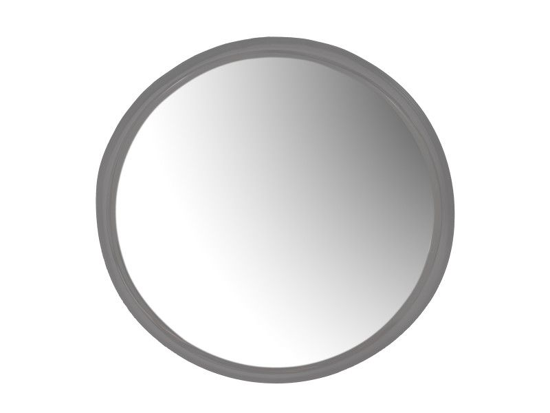 Miroir rond ø35 cm en métal woody - noir/gris