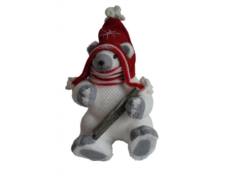 Figurine en forme d'ours polaire - laine