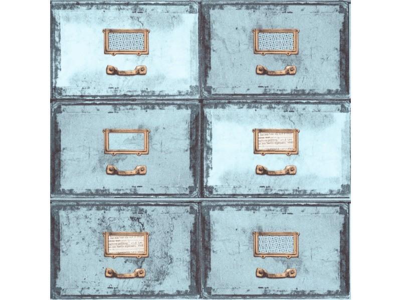 Papier peint intissé armoire 1005 x 52cm bleu 33-030