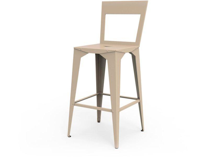 Chaise haute cuatro beige sable hauteur 65 cm ChH_CUA_h65_Sab