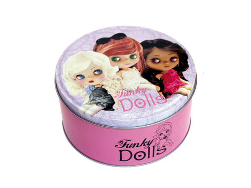 Boite métal funky dolls