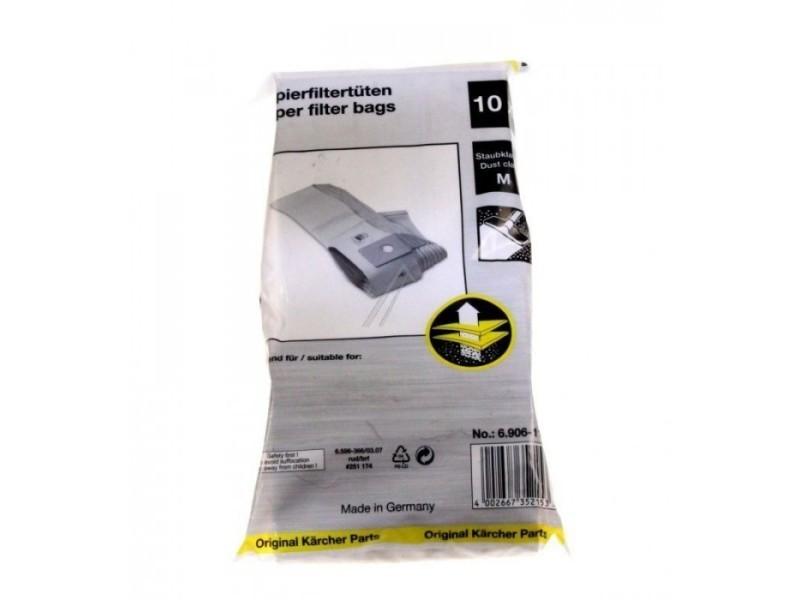 Sachet de sacs (x10) pour aspirateur karcher