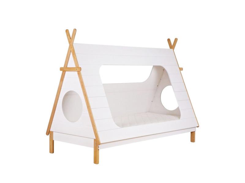 Tipi - lit enfant bois - couleur - blanc 380100-W