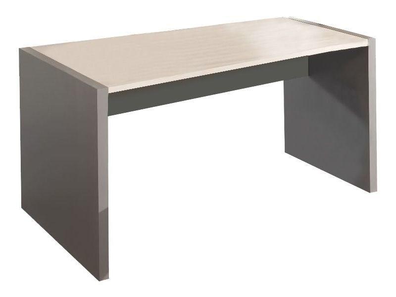Bureau 160 cm en bois coloris gris et chêne clair p 7893 co inserto