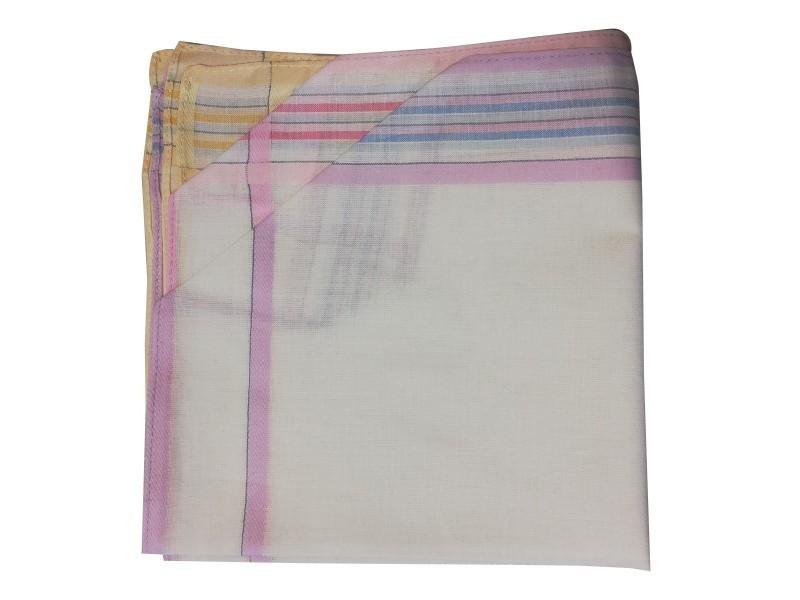 Lot de 12 mouchoirs 36x36 cm 100% coton motif 37