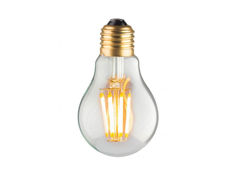 Ampoule lampe a60 e27 led filaments droits 8w classique verre clair