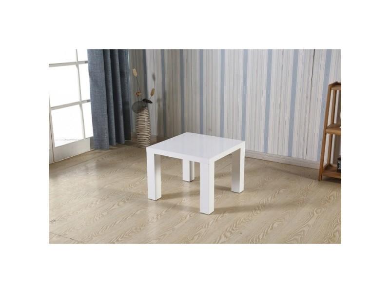 Table basse kreta carrée 60x60 cm en mdf coloris blanc