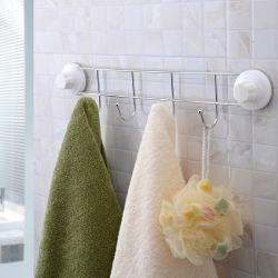 Porte-serviettes à crochets et à fixation en ventouses puissantes ( 60 cm )