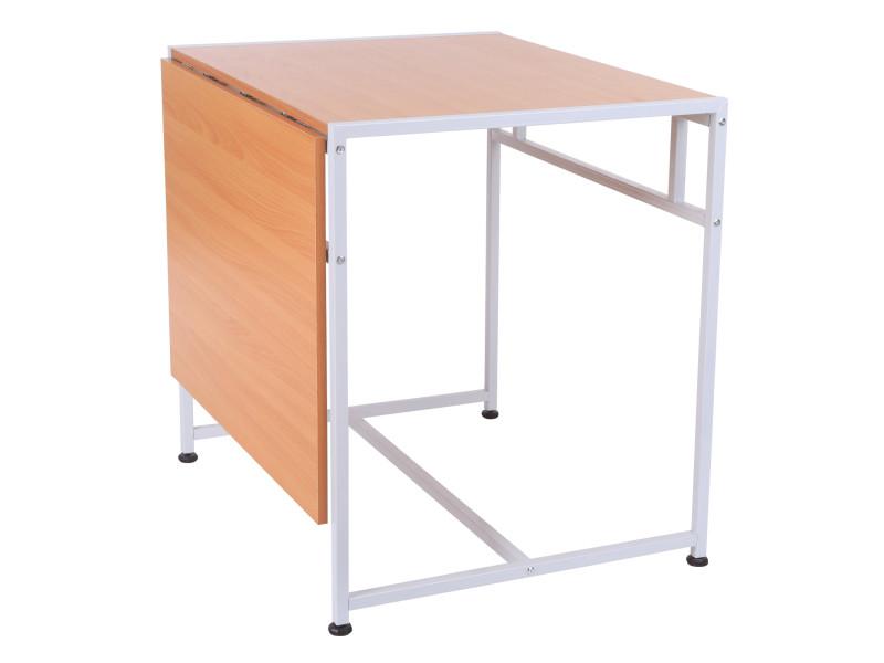 Bureau table informatique pliable l lx h cm plateaux