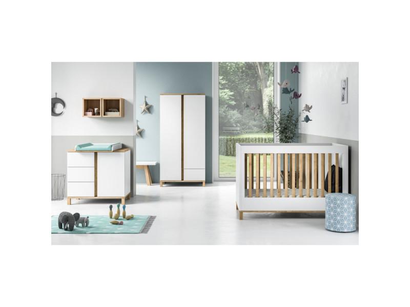 Chambre complète lit bébé 60x120 - commode à langer ...