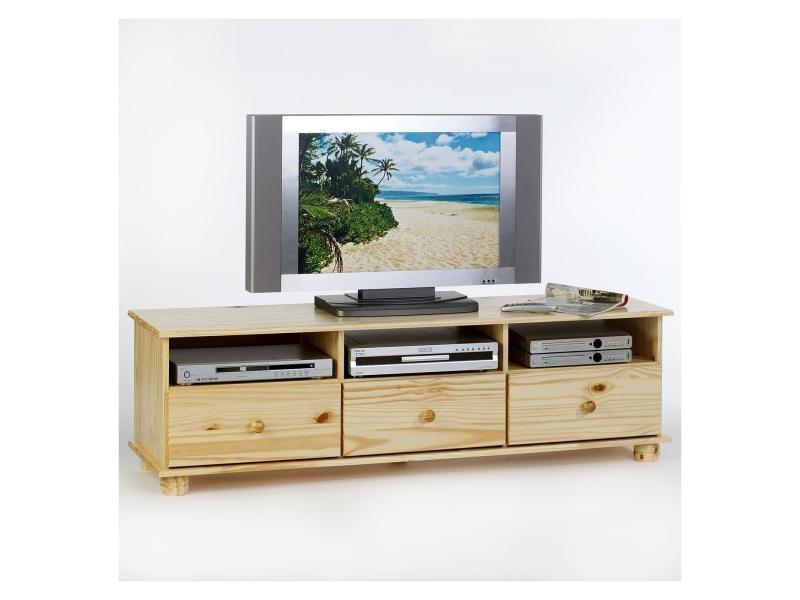 meuble tv bern pin massif vernis naturel vente de meuble tv conforama. Black Bedroom Furniture Sets. Home Design Ideas
