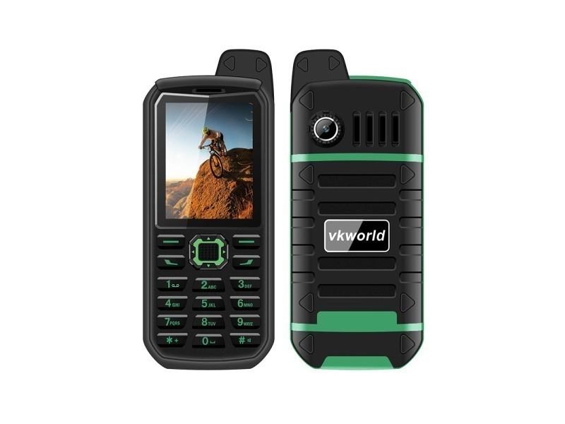 Telephone Portable Etanche Robuste Ip54 Double Sim Radio Fm Vert