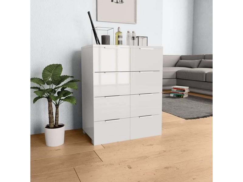 Moderne armoires et meubles de rangement gamme téhéran buffet blanc brillant 60 x 35 x 76 cm aggloméré