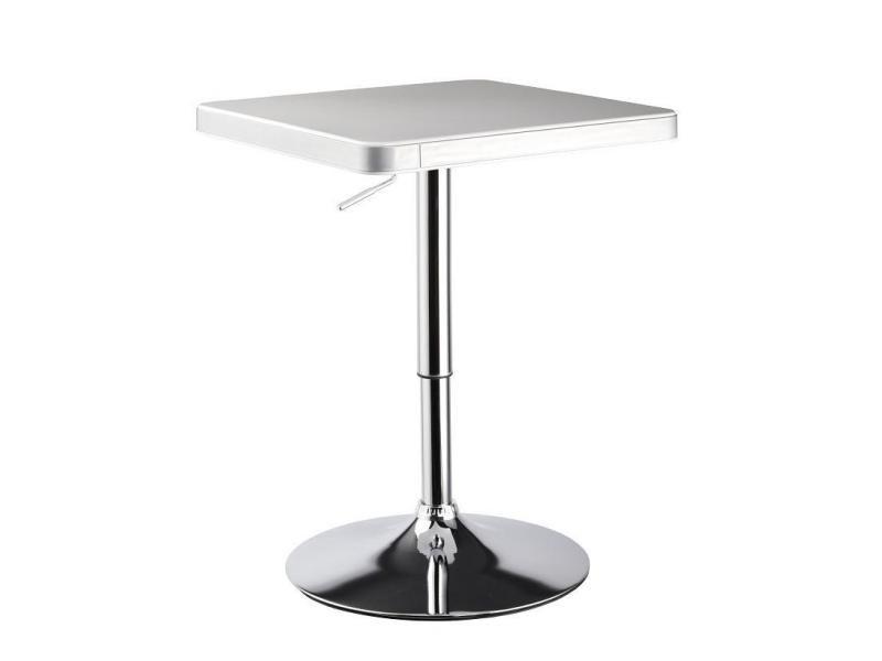 table de bar bistrot hauteur r glable 70 95 cm blanc tab09005 vente de table conforama. Black Bedroom Furniture Sets. Home Design Ideas