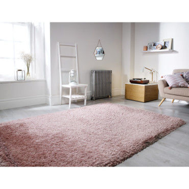 tapis shaggy doux et epais en polyester pearl rose poudre 160 x 230 cm i12677833