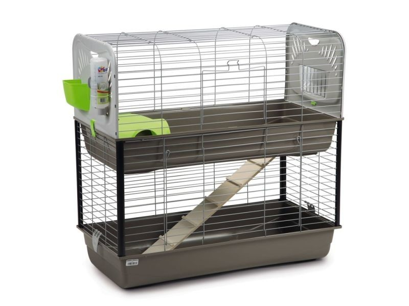 cage lapin et cochon d 39 inde caesar 3 double vente de autres conforama. Black Bedroom Furniture Sets. Home Design Ideas