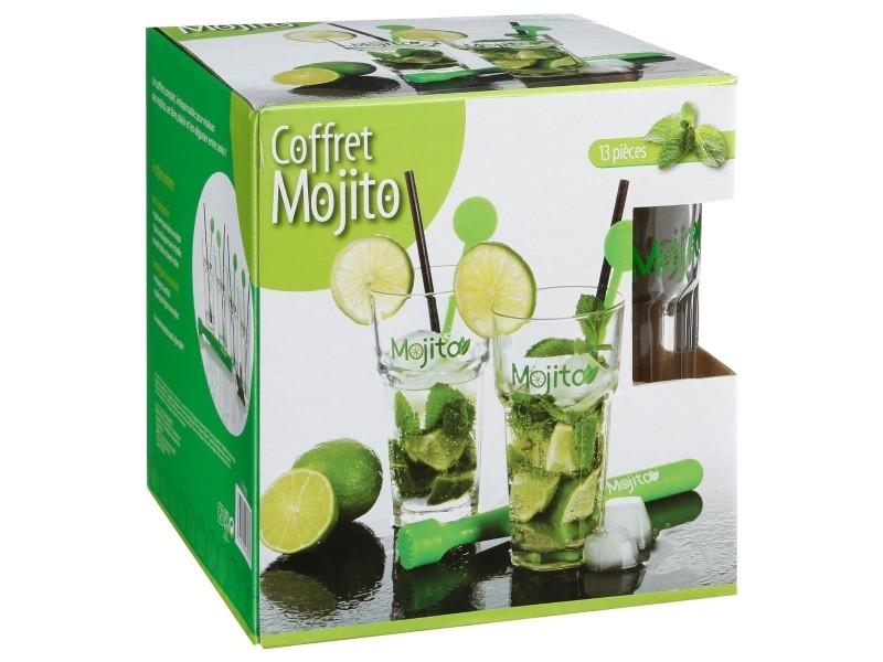 Coffret mojito 13 pi ces vente de secret de gourmet conforama - Verre mojito maison du monde ...