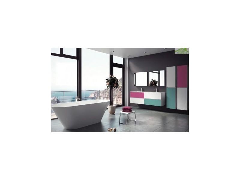 Ensemble meuble & lavabo riho cambio stretto set 23 120x38x h 58 cm - bois laqué brillant FSR120Z01DDDS23
